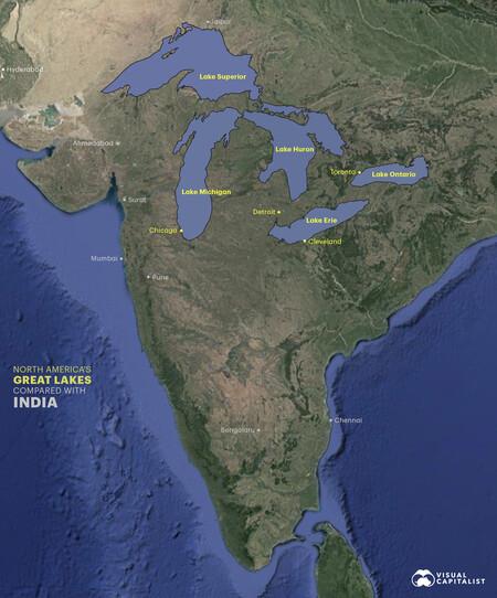 Lagos comparación con India.
