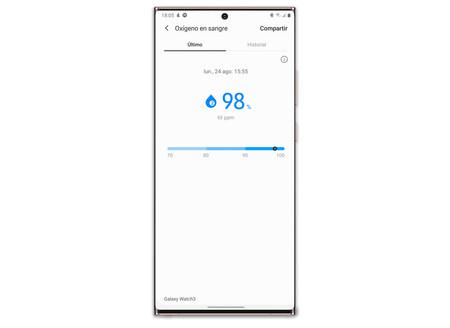 Samsung Galaxy Note 20 Ultra Watch 3 Saturacion Oxigeno