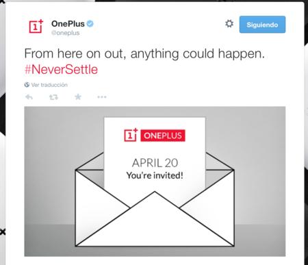 OnePlus anuncia evento el próximo 20 de abril ¿segunda generación a la vista?