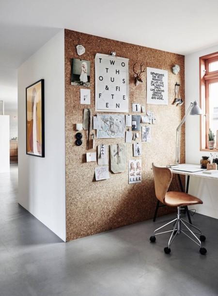 Una pared de corcho para tu oficina o estudio