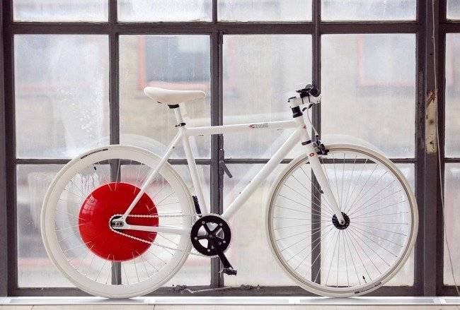 Copenhaguen Wheel montada en una bicicleta
