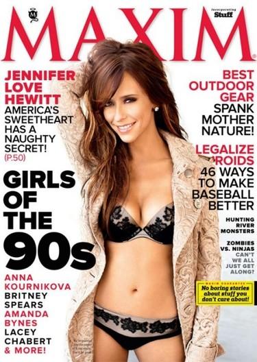 Jennifer Love Hewitt se destapa (a medias) en la portada de Maxim
