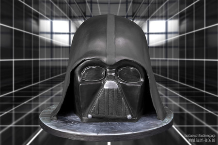 Un increíble pastel con la forma de Darth Vader