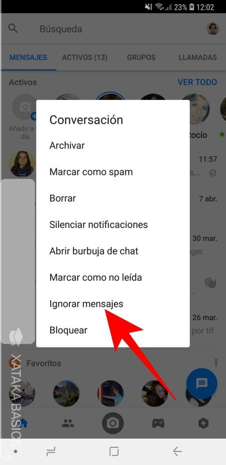 Ignorar Mensajes