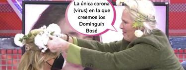 La ofrenda de paz de Lucía Dominguín a Lydia Lozano tras ofender a la familia Bosé en el 'Deluxe'