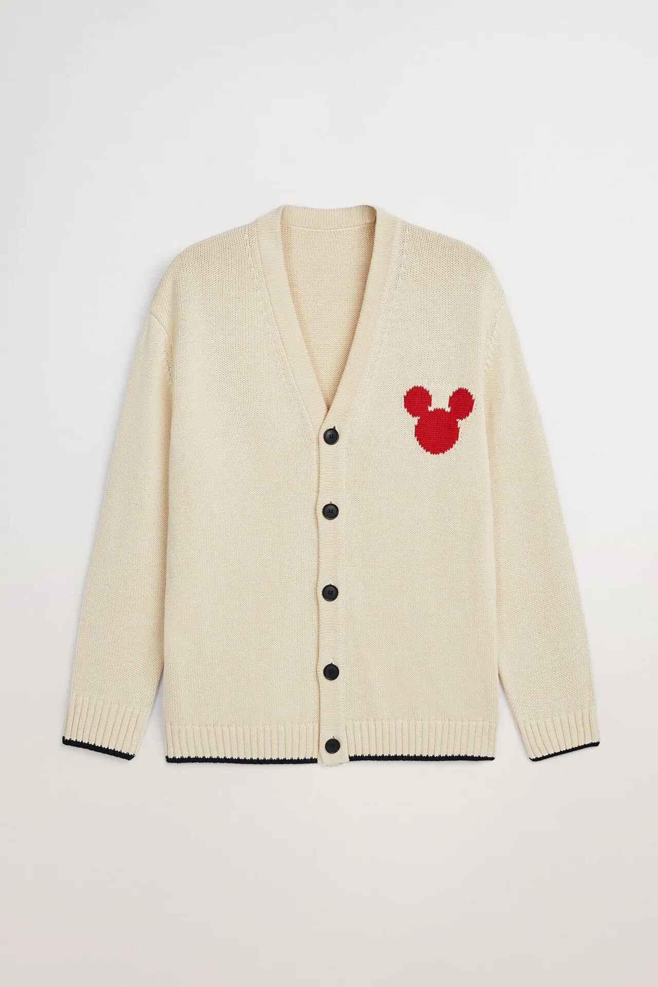 Cárdigan en Jacquard con logo de Mickey Mouse