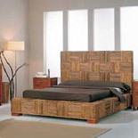 Un dormitorio en madera