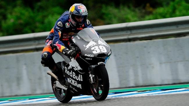 Luis Salom en los test de Jerez