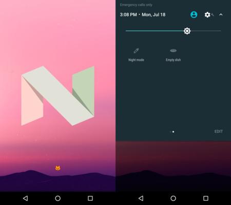 El easter egg de Android 7.0 Nougat es una adaptación del juego Neko Astume