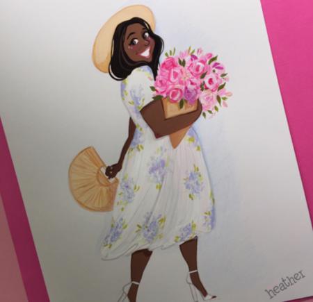 Las bloggers XL tienen otra cara y este artista ha sabido reflejarla mejor que nadie
