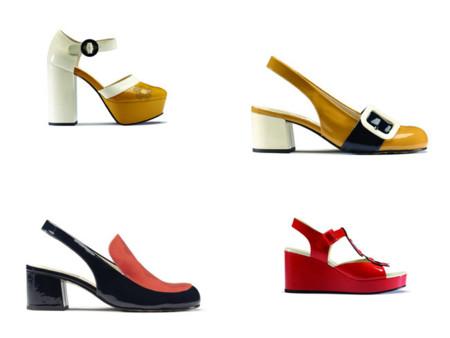La colorida colaboración de Orla Kiely para Clarks: pies modernos