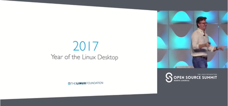 El director de la Linux Foundation proclama 2017 el año de Linux en el escritorio... desde su Macbook