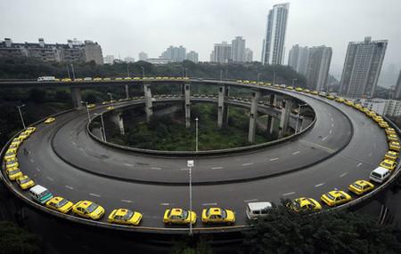 """Los taxistas chinos ensayan para el """"Peak-Oil"""""""