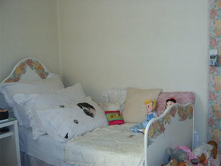 La cama auxiliar de Silvia.