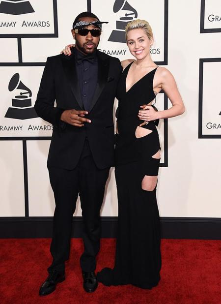 Parejas Grammy 2015 Mike Will Made It Miley Cyrus
