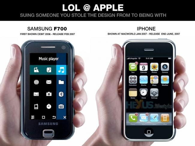 Samsung F700 vs Apple iPhone