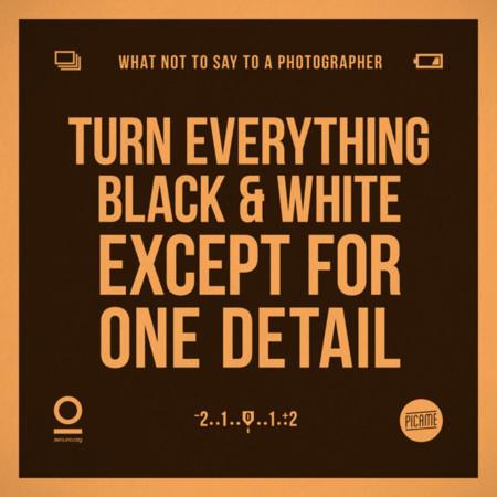 Haz todo en blanco y negro menos un detalle