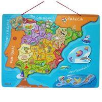 Con el  puzzle magnético de España de Janod se pueden aprender las provincias de manera divertida por 21,99 euros