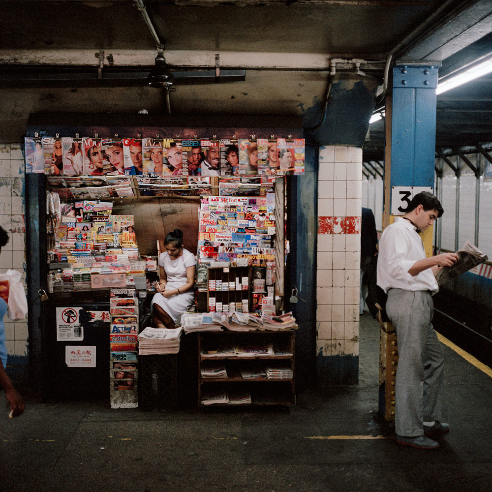 Newsstand In The Subway New York City 1985