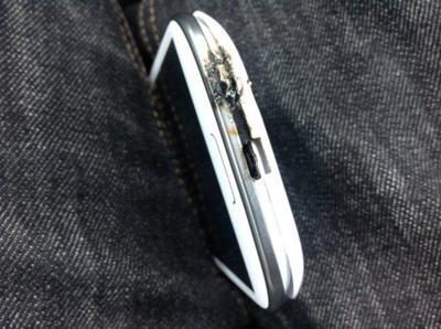 Un Samsung Galaxy SIII explota en una base para automóvil