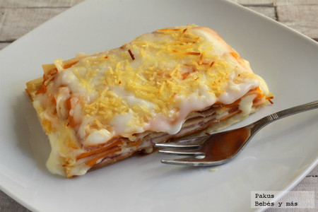 Lasaña de jamón y queso, un delicioso plato para compartir en familia