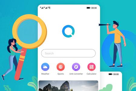 """Huawei prueba su alternativa a la aplicación de Google, con barra de búsqueda, """"discover"""" y el tiempo"""