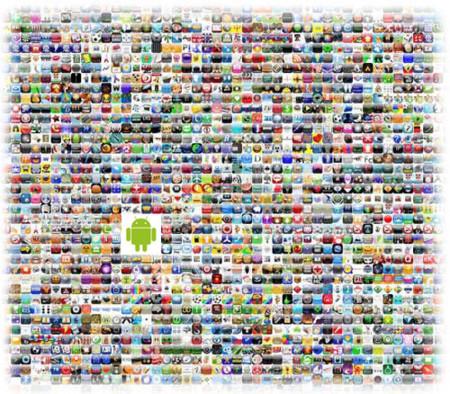 Apple App Store: 10.000 aplicaciones, 300 millones de descargas - Android Market: 462 aplicaciones