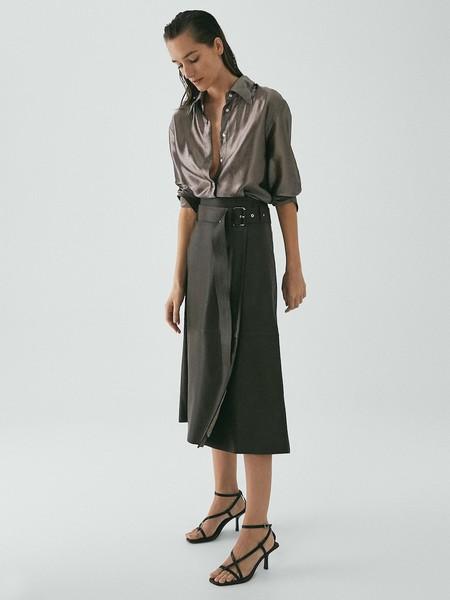 Falda Cinturon Piel Limited Edition