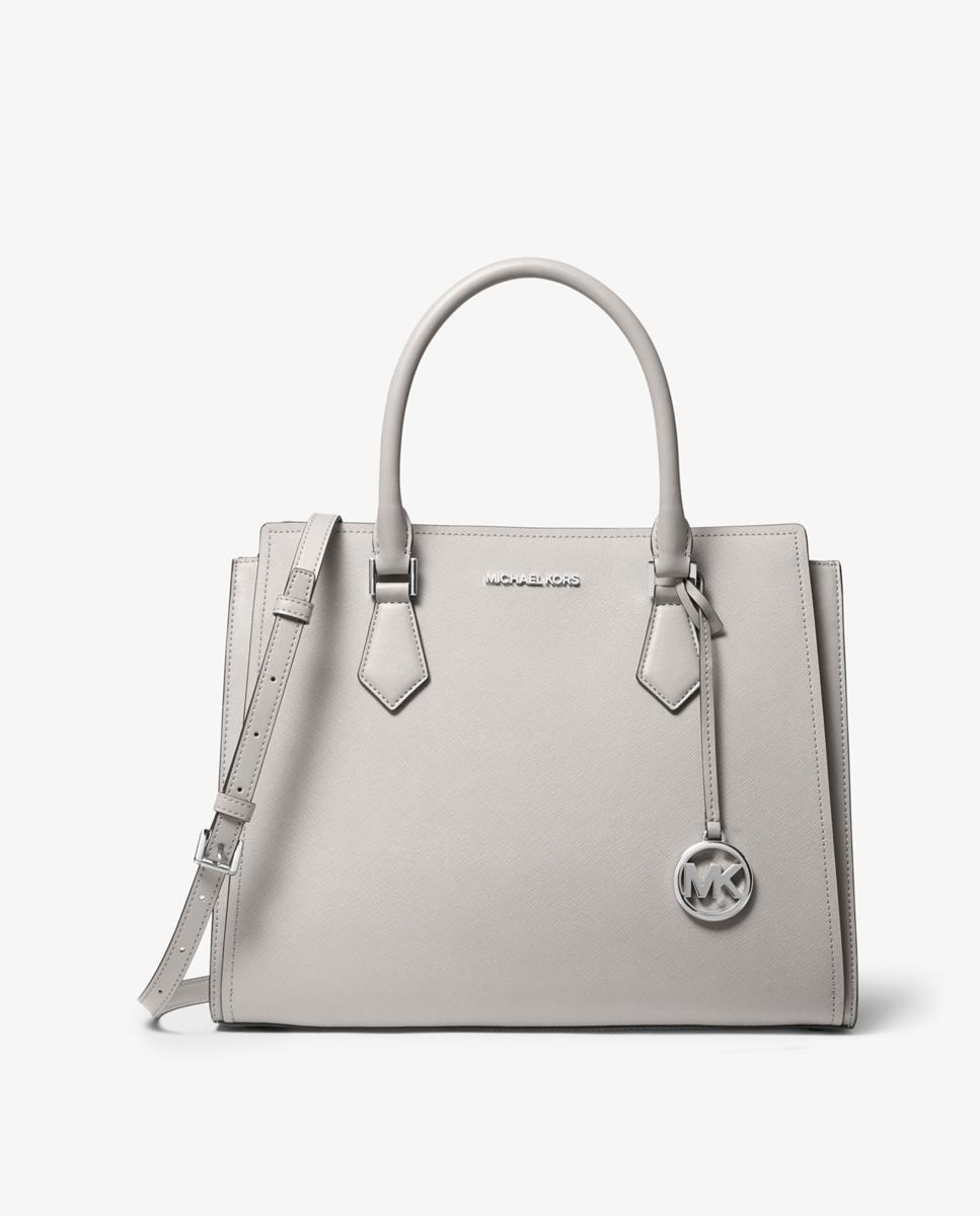 Bolso de mano de mujer Michael Kors liso en gris