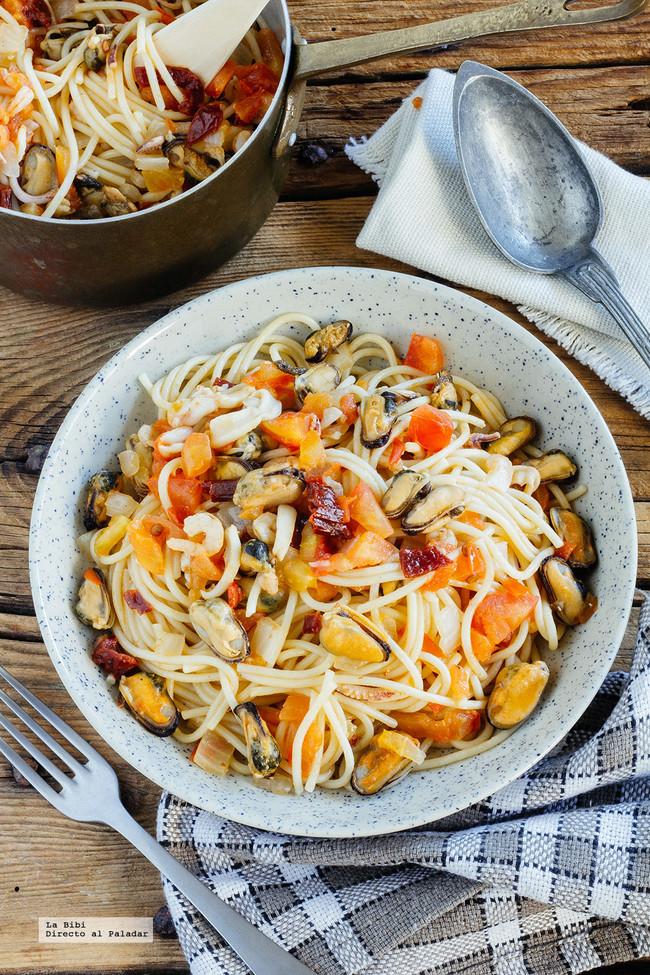 Spaghetti Mariscos Chipotle