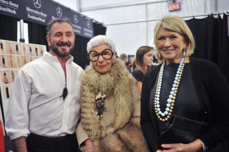 Iris Apfel junto a Ralph Rucci durante la Semana de la Moda de Nueva York Septiembre 2013