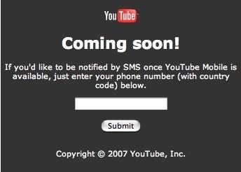YouTube móvil en breve