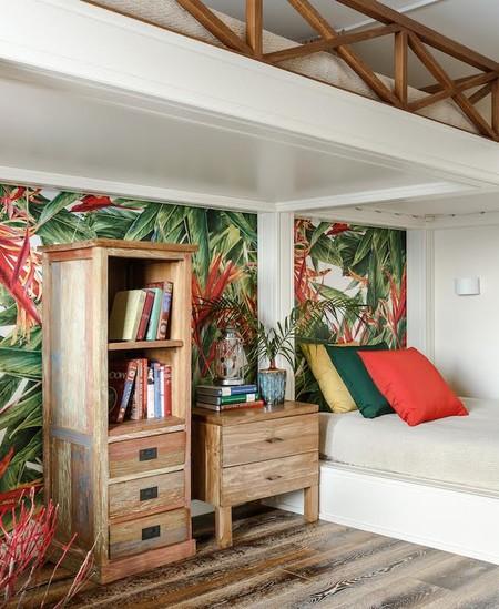 Un piso de 80 metros cuadrados en la costa del Sol, que refleja la pasión de una familia por los viajes
