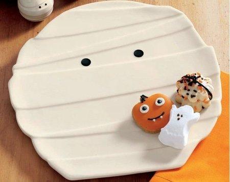 Platos momia para Halloween