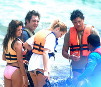 Penélope Cruz y Javier Bardem se ponen cariñosos en Brasil