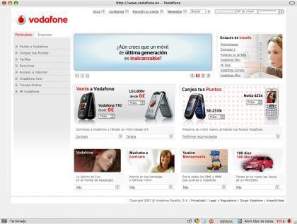 Vodafone rediseña su web