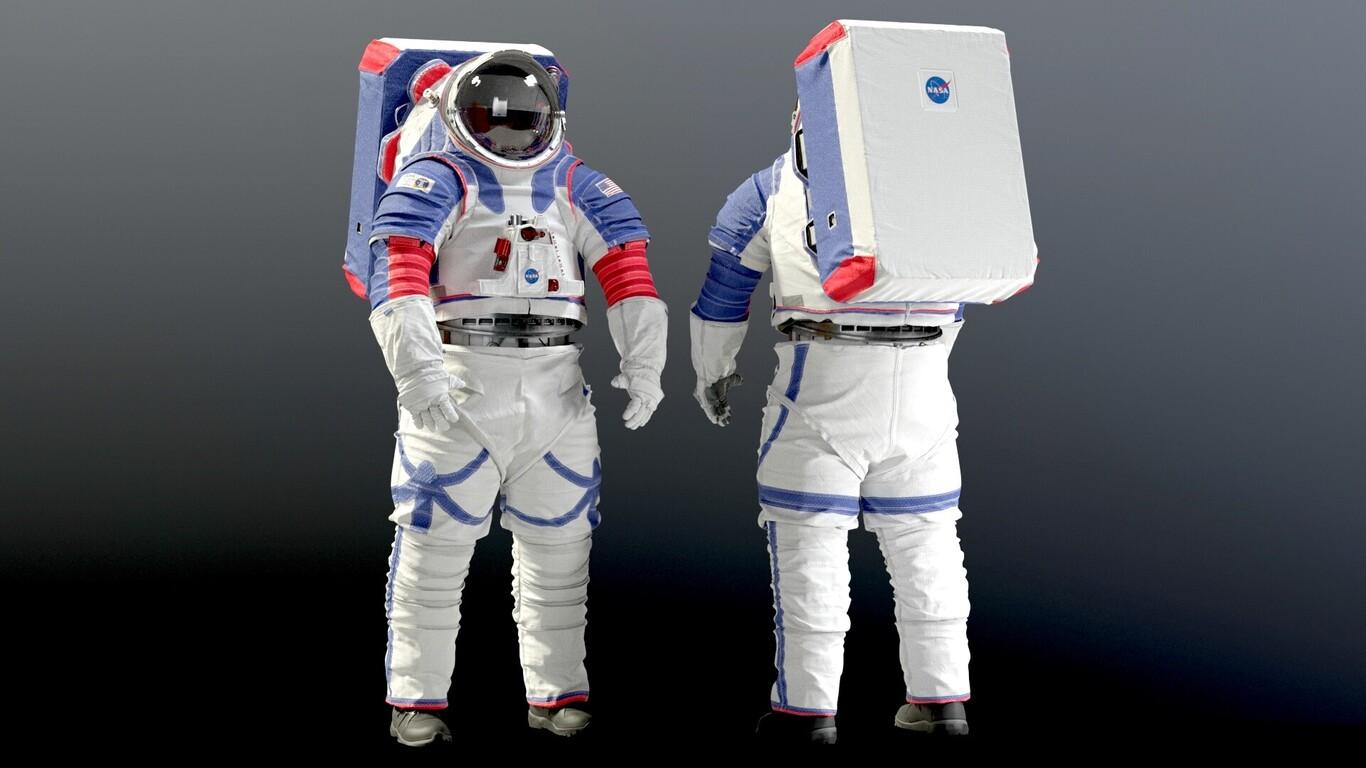 Los nuevos trajes lunares viajan a bordo de la Crew Dragon para ser probados en la Estación Espacial Internacional.