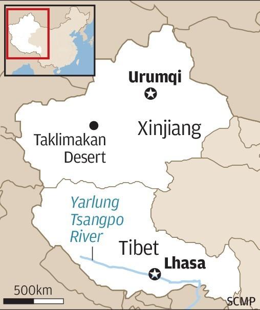 Xinjiang Mapa