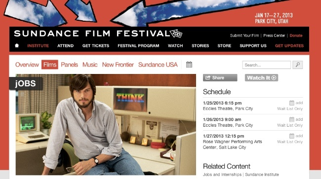 sundance film festival jobs ashton kutcher