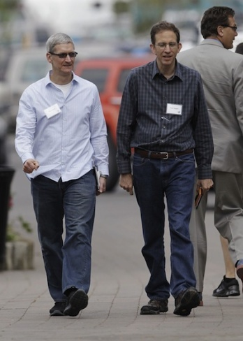 tim cook paul sagan sun valley conference apple
