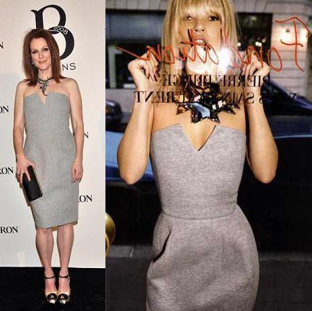 Vestido de Yves Saint Laurent: ¿Julianne Moore o Kate Moss?