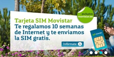 10 semanas de Internet gratis al adquirir una SIM prepago de Movistar
