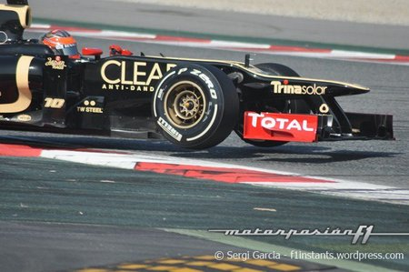 Lotus vuelve a lo grande y obtiene el mejor tiempo en el quinto día de pruebas en Barcelona