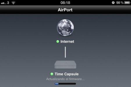Cómo usar la utilidad Airport de iOS para actualizar un dispositivo Time Capsule o Airport Extreme