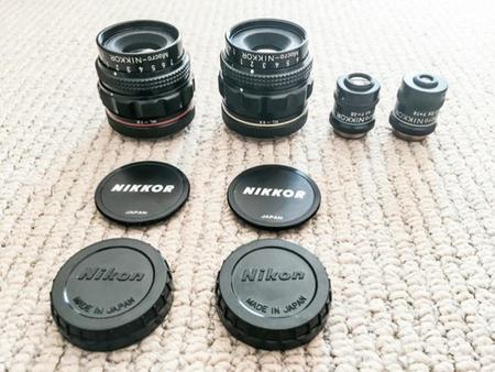 Aparece en eBay un kit de objetivos Nikkor Macro Multiphot, de Nikon, «legendario»