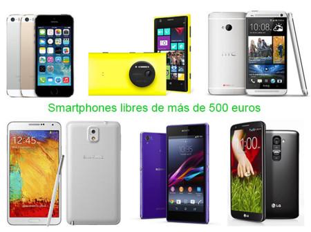 ¿Qué teléfonos móviles regalar esta navidad por encima de 500 euros?
