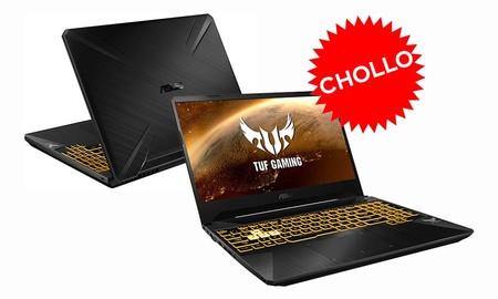 Con el cupón PTECH5 a través de la app de eBay, tienes un portátil gaming de gama media a precio de equipo convencional: ASUS FX505DT-BQ624, ahora por 549 euros