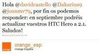 Orange anuncia las actualizaciones Android de sus HTC Hero, Desire y Boston