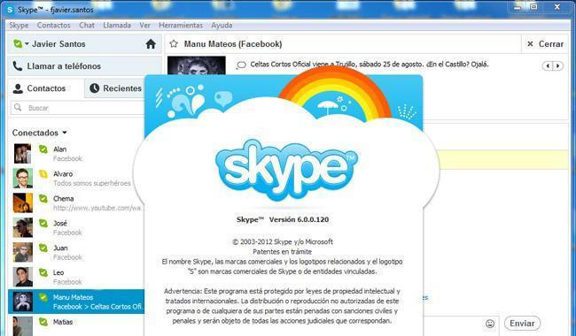 Skype 6.0 para Windows y Mac OS X
