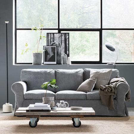 Ikea Ektorp Malmen Velvet Zinc Grey Bemz